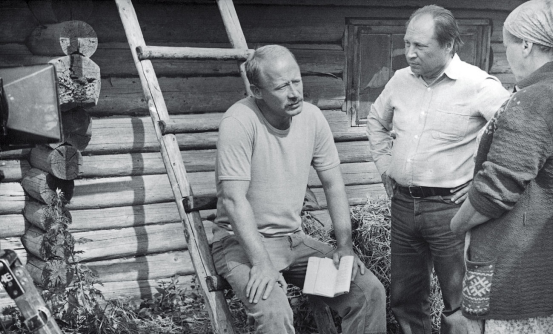 Виталий Мельников И Виктор Проскурин на съемках фильма